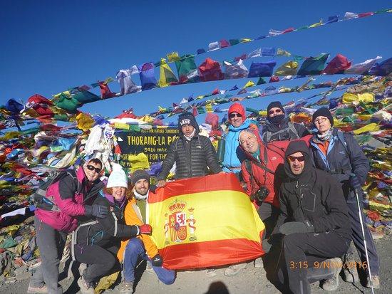 Kathmandu Valley, Nepal: Es el paso del Thorong La en el Circuito del Anapurna que comunica Manang con Mukhinat