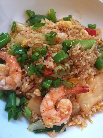 Kimchi Fried Rice With Shrimp 8 65 In Lunch Time Great Experience Picture Of Beantown Pho Grill Boston Tripadvisor