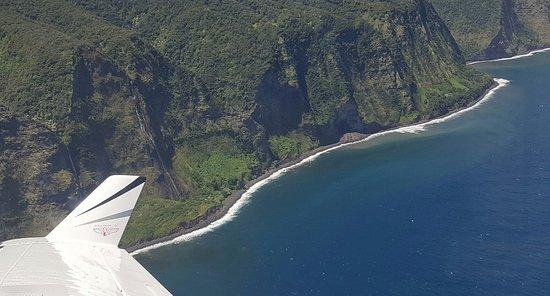 Ka'anapali, HI: Maui's Majestic Waterfalls were a bonus on our flight.