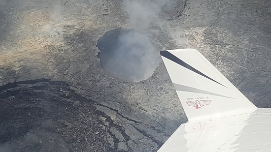 Ka'anapali, HI: The pilot would fly over the crater of the volcano and tip the wing for a great shot!