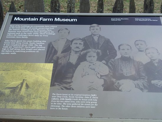 Mountain Farm Museum: plaque detailing the place