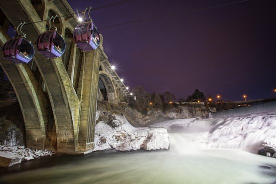 Soar above the Spokane Falls