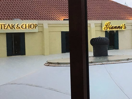 J.H. Yee's Asian Bistro: View To Gianni's and Daniel's Steak & Chop
