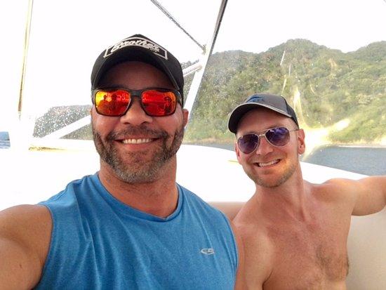 Gulf of Papagayo, Costa Rica: Me and Paul enjoying the shade.