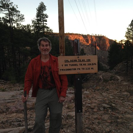 Payson, AZ: trail sign is a couple mins hike downhill from the road