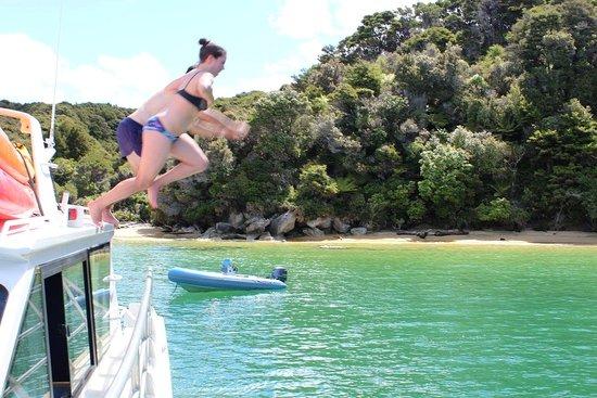 Abel Tasman National Park, Nueva Zelanda: Swim time