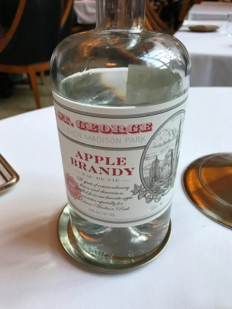 Eleven Madison Park: apple brandy (dont drink to much)