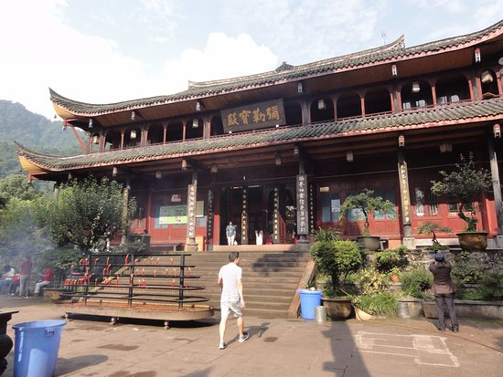Emeishan, China: Baoguo Temple from the back