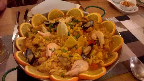 El Rincon Canario: Seafood paella for 2