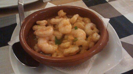 El Rincon Canario: Garlic prawns