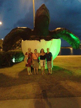 Aracaju Aquarium - Tamar: Em frente o oceanário de Aracaju