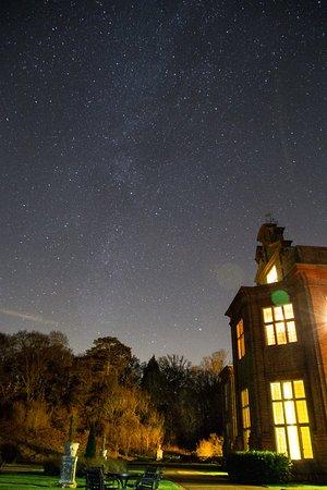 Barham, UK: Milky Way (faint) over the rear terrace