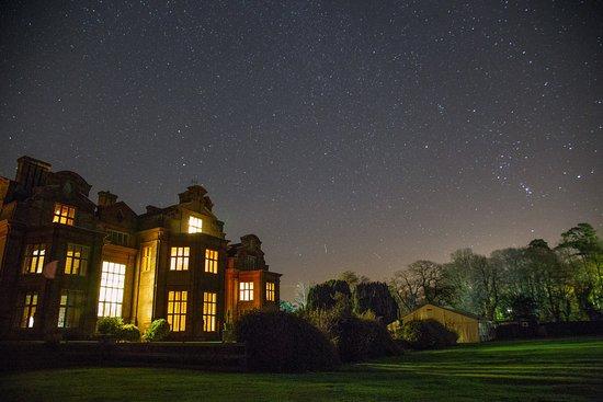Barham, UK: rear view at night