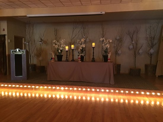 Three Forks, MT: Grand Ballroom with Wedding Setup