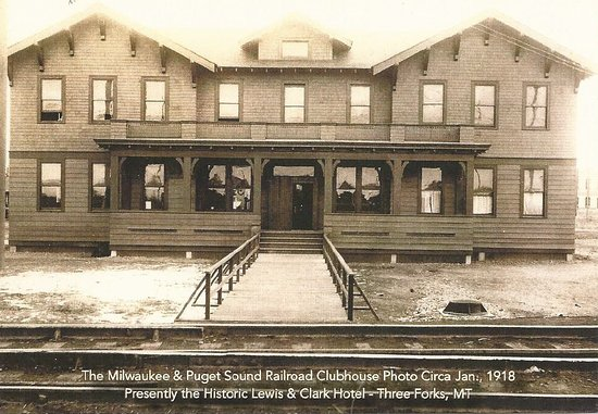 Three Forks, MT : Postcard featuring Historic Photo of what is now our main building