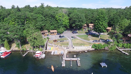 Candlelight Cottages LLC on Lake George: Lakefront view of Candlelight Cottages
