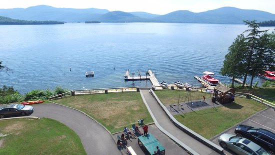 Candlelight Cottages LLC on Lake George : View from Candlelight Cottages lakefront property
