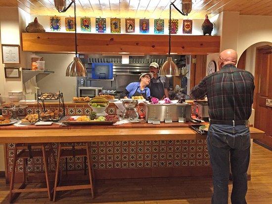 Inn on the Alameda: The breakfast buffet array.