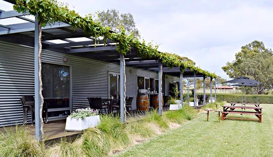 McLaren Vale, Australia: Alfresco style decking, perfect for a grazing platter & bottle of wine!