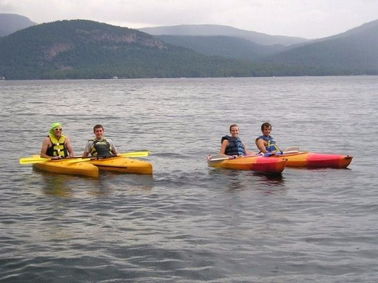 Candlelight Cottages LLC on Lake George: Explore the lake in one of our kayaks!