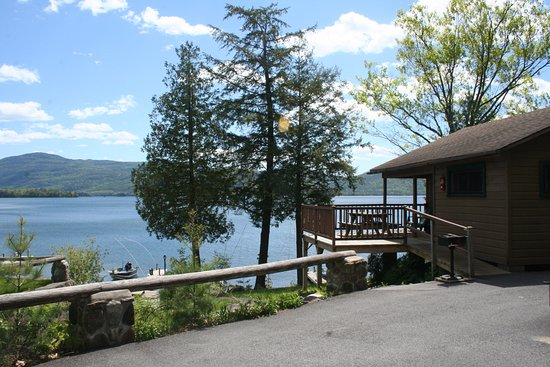 Candlelight Cottages LLC on Lake George: View of two bedroom lakeside cottage (A) and lake front