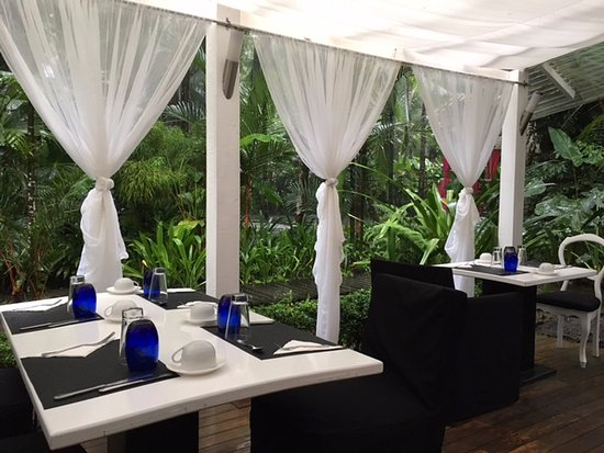 Cocles, Costa Rica: Überdachter Frühstücksraum