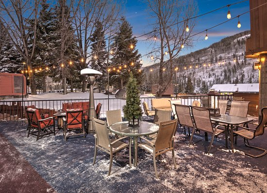 Vail Run Resort: East End Deck with Fire Pit and Heater -  Winter