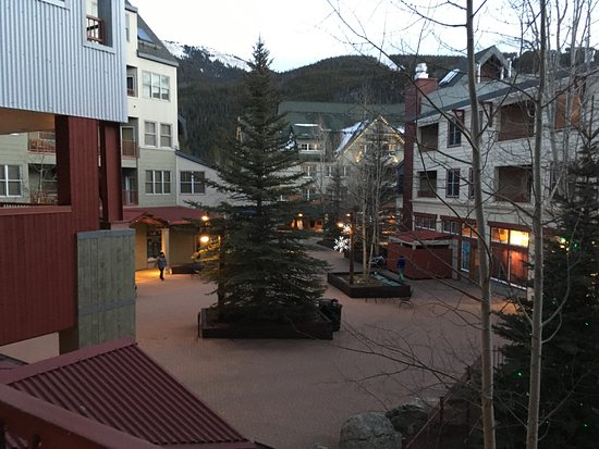 Keystone, CO: from the balcony, hot tubs to the right of the pic