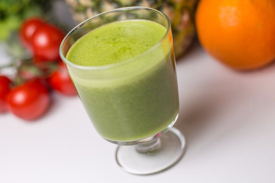 County Dublin, Ireland: Celery, apple, avocado and lime cold pressed juice