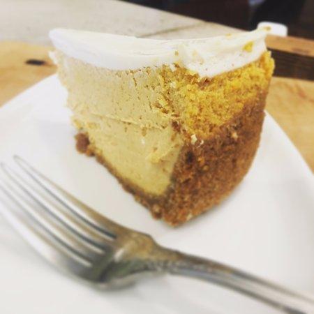 Keene Valley, NY: Pumpkin cheesecake makes us weak in the knees.
