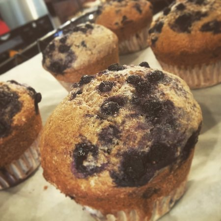 Keene Valley, NY: Vegan blueberry muffins :-)