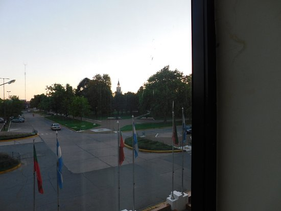San Jorge, Argentina: View of park from hotel room.