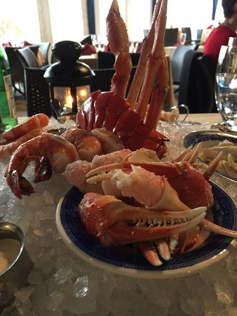 Blue Bell, PA: Seafood appetizer at Thankgiving dinner