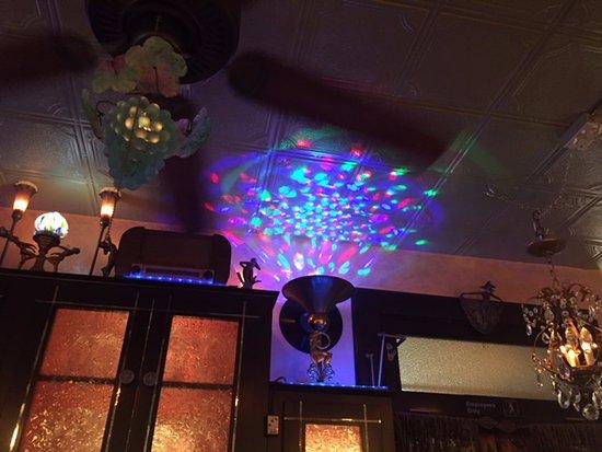 Torrington, CT: Swirly light fun upstairs.
