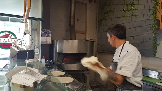 Pizza Bases In The Making Picture Of La Bella Italia