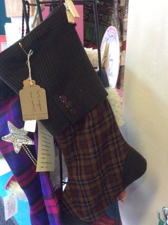Vernon, Canada: Hand made Christmas stockings