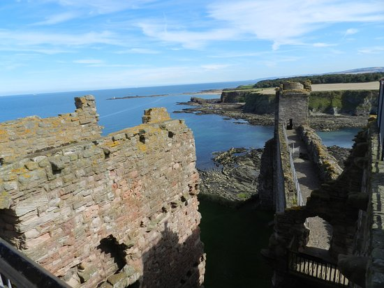 North Berwick, UK: View east from Middle Tower