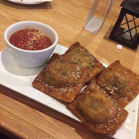 Large Toasted Raviolis with marinara dipping sauce!