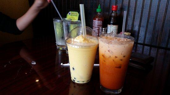 Mango Babo and Thai tea