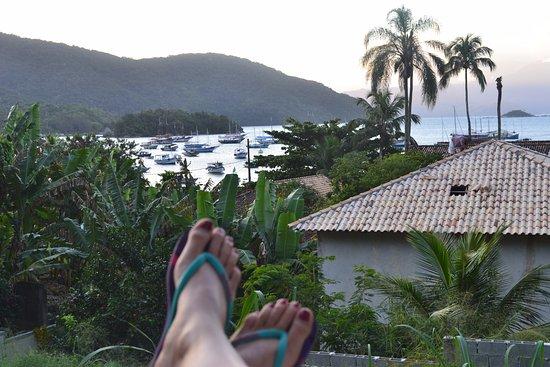 Pousada Tagomago Beach Lodge: depuis la terrasse