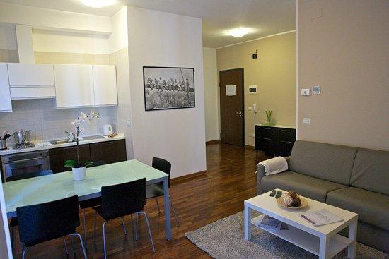 Angolo Cottura Soggiorno : Soggiorno con angolo cottura divano letto bild von residence le