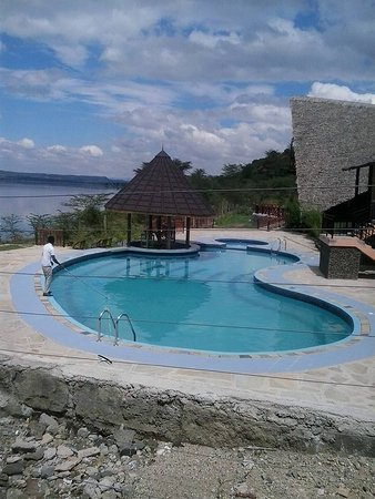 Gilgil, Kenia: Enjoy a beautiful view of the lake as you swim