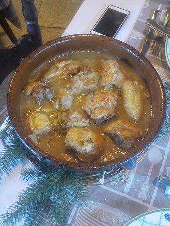 La Guingueta d'Àneu, España: Pollo guisado.