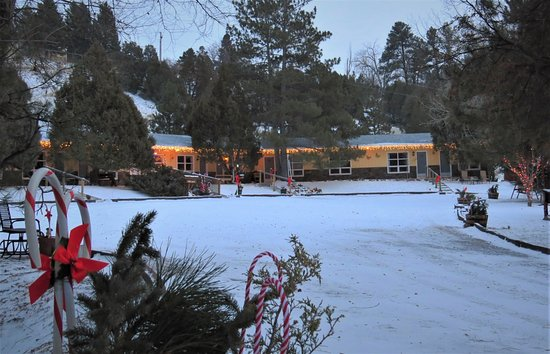 Newcastle, WY: Christmas time at Pines Motel