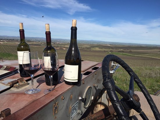 Paso Robles, Califórnia: View overlooking Steinbeck Vineyards