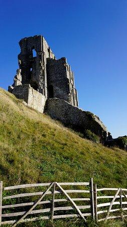 Corfe Castle, UK: remains