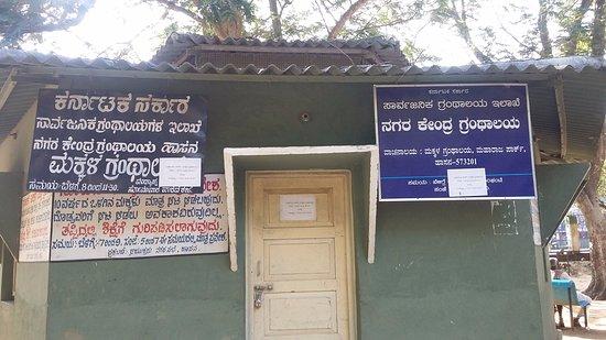Хасан, Индия: children's library inside Maharaja Park
