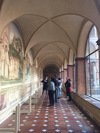 Province of Siena, Italy: Stunning frescos inside the Abbey of Monte Oliveto Maggiore with Elena as our guide