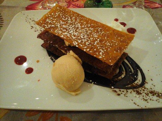 Wintzenheim, Francia: feuilleté chocolat caramel glace