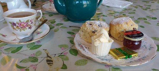 Royal Wootton Bassett, UK: A large cream tea.